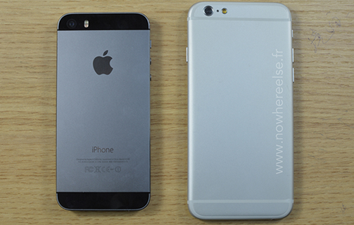 Apple-iPhone-6-dummy-towers-over-the-Apple-iPhone-5s
