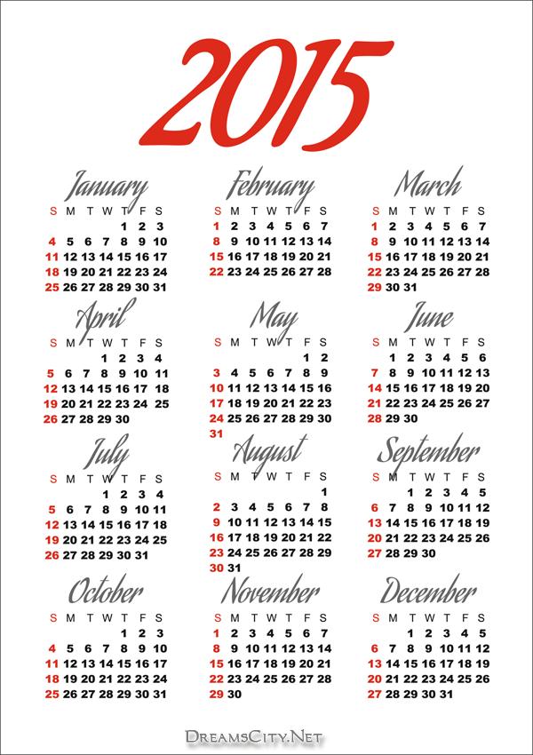 تقويم 2015