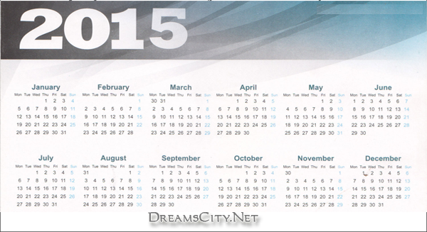 2015 تقويم