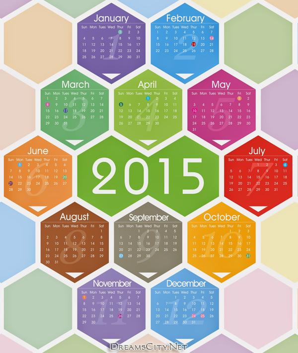 تقويم السنة الجديدة 2015