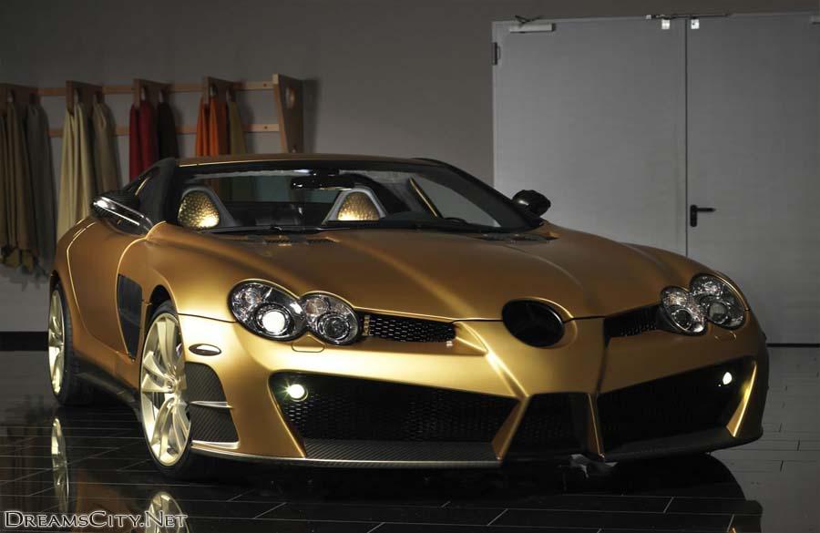 مرسيدس بنز لونها ذهبي