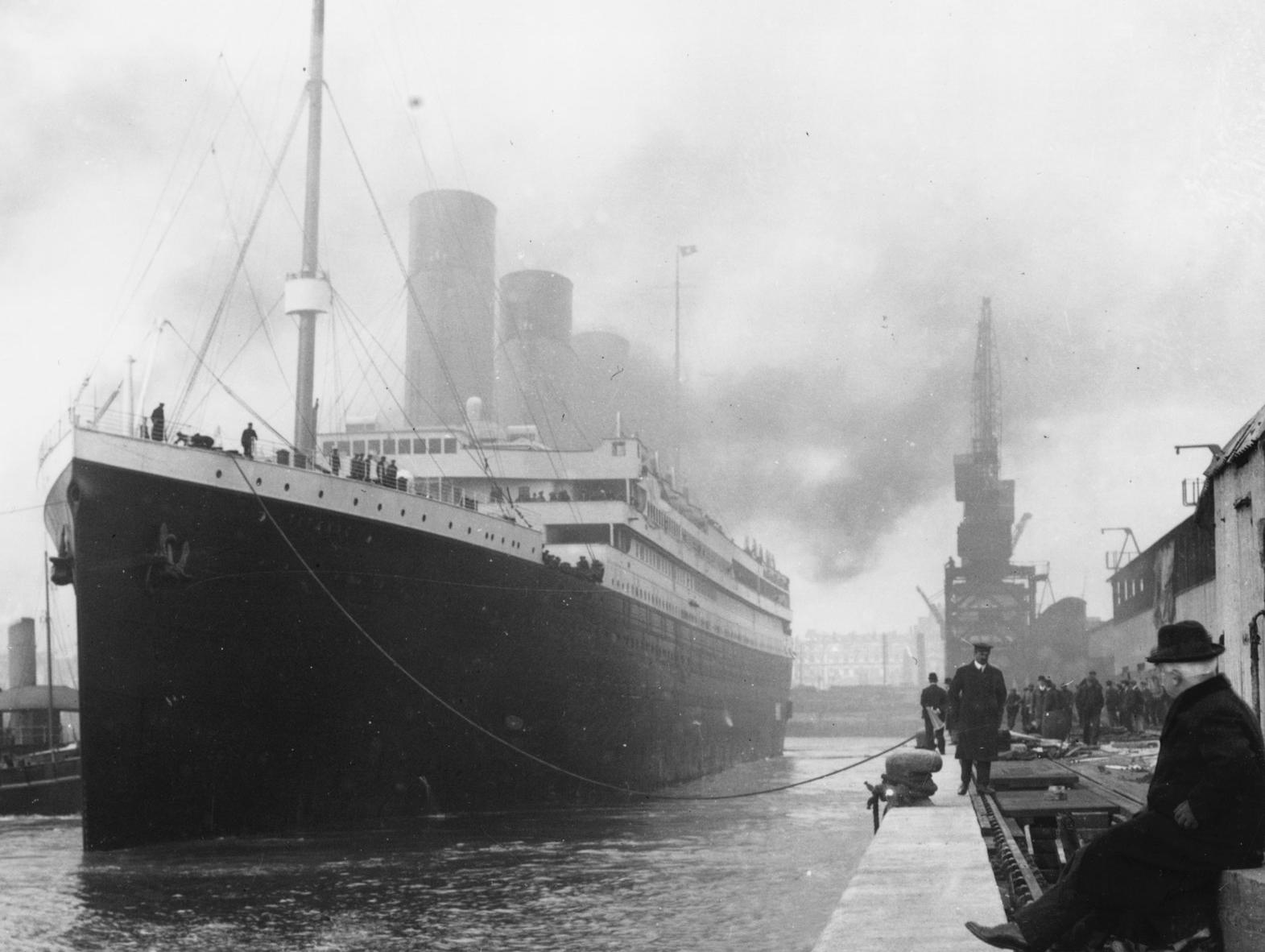 الافراج عن صور جديدة تنشر لاول مرة للسفينة تايتانيك