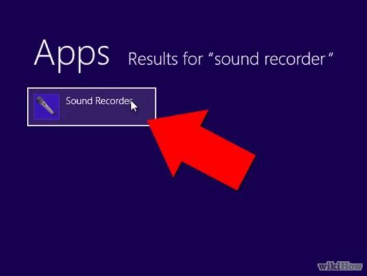 كيف تستخدم مسجل الصوت المدمج في ويندوز 8