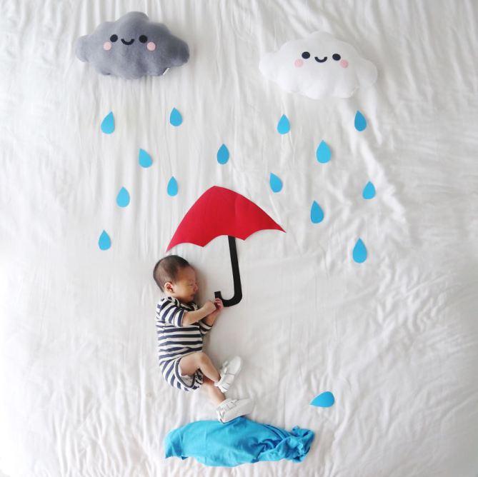 قصص مصورة لطفلة نائمة