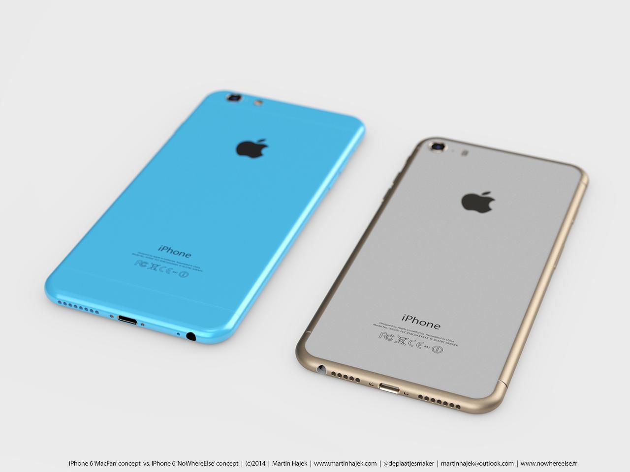 بالصور والفيديو : نماذج محتملة لهاتفي الايفون 6 اس والايفون 6 سي