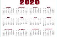 صور تقويم 2020