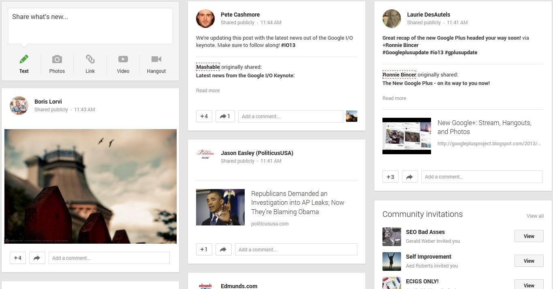 جوجل بلس تقدم شكل جديد لمشاركات الروابط