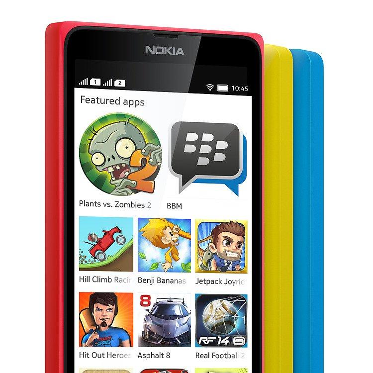 نوكيا تطلق لاول مرة هاتف بنظام الاندرويد : Nokia X