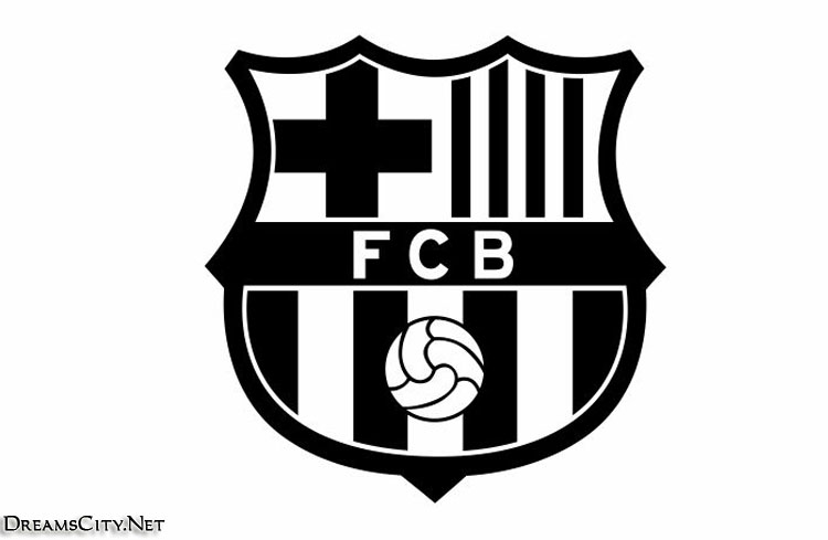 barcelona logo black and white