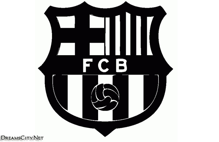 barcelona logo black and white04