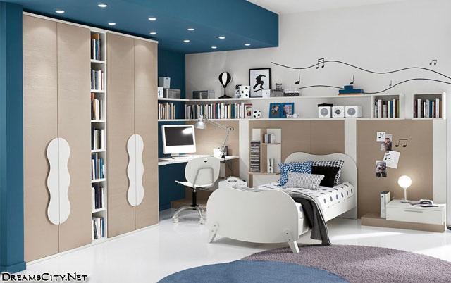 children's bedroom-darkblue