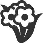 flowers icon black ‫(29601678)‬ ‫‬