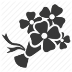 flowers icon black ‫(29601680)‬ ‫‬