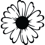 flowers icon black ‫(3)‬ ‫‬