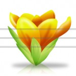 flowers icon yellow ‫(1)‬
