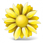flowers icon yellow ‫(29601673)‬ ‫‬
